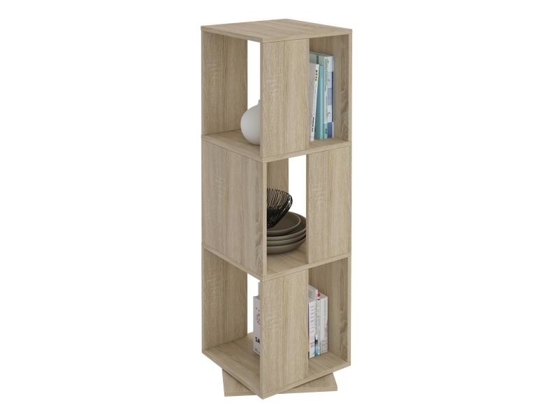 biblioth que tag re pivotante mdf m lamin ch ne sonoma vente de idimex conforama. Black Bedroom Furniture Sets. Home Design Ideas