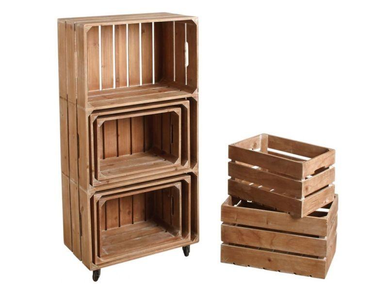 Ensemble étagère et caisses de rangement