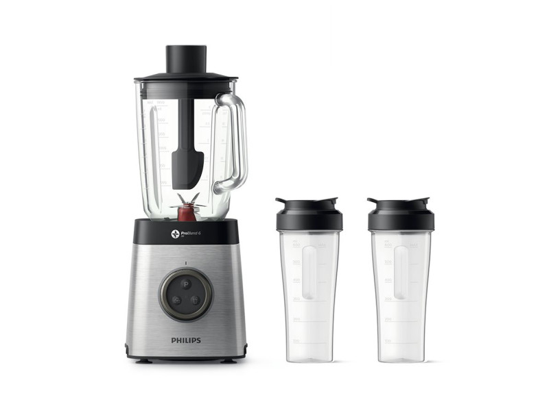 Philips avance collection blender, 1 400 w, problend 6 3d, bol en verre de 1,8 l