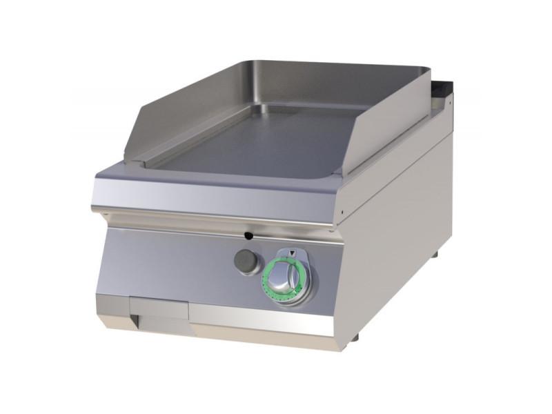 Plancha gaz simple plaque de cuisson lisse - 7 kw - acier