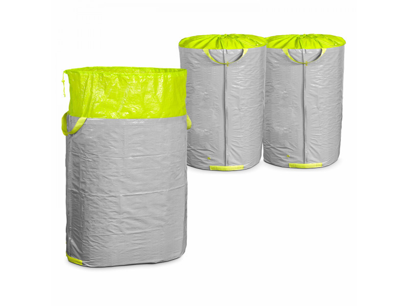 Sac de jardin 270 l - 64 x 105 cm polyester gris
