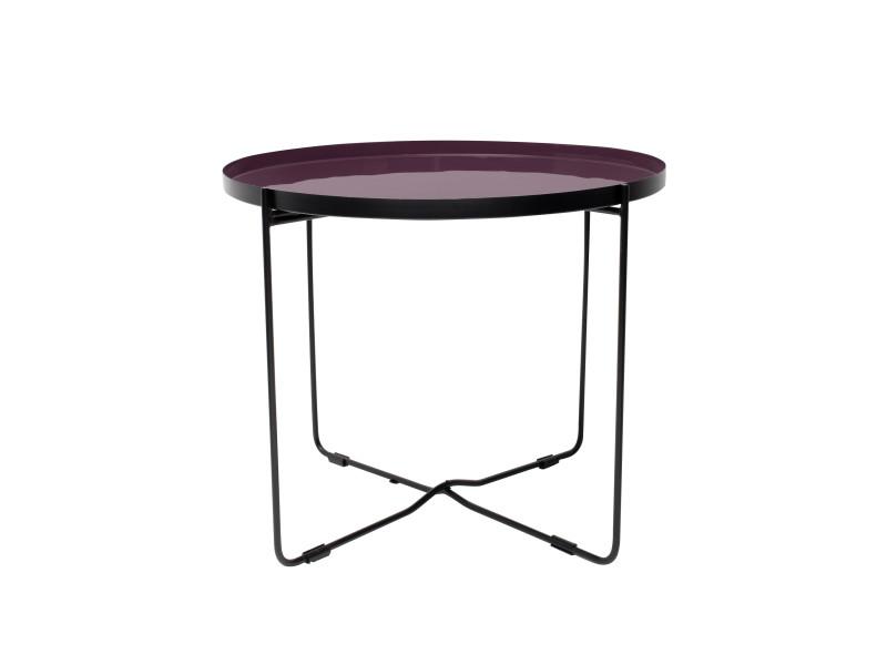 Table basse ronde hisor violette