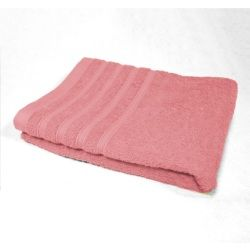 Serviette de toilette 50 x 90 cm rose dragee