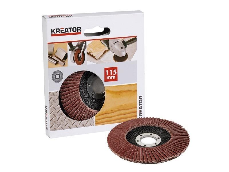 Kreator 03255005 Disque /à lamelles pour meuleuse /Ø 115 mm Grain 80