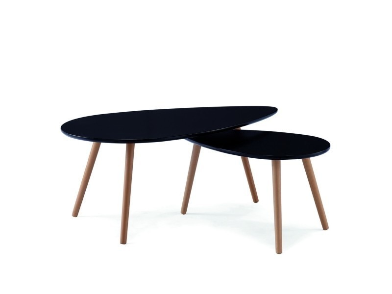 Table Basse Scandinave Noir Avesta Vente De Table Basse Conforama