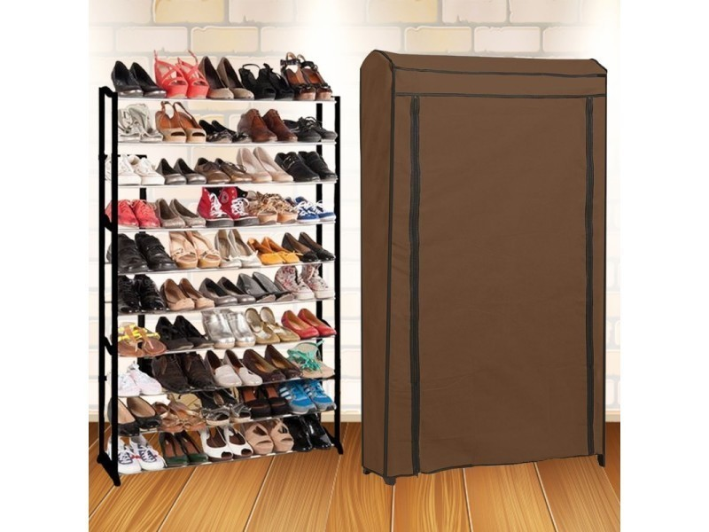 etag re range chaussures 50 paires eco avec sa housse chocolat vente de id market conforama. Black Bedroom Furniture Sets. Home Design Ideas