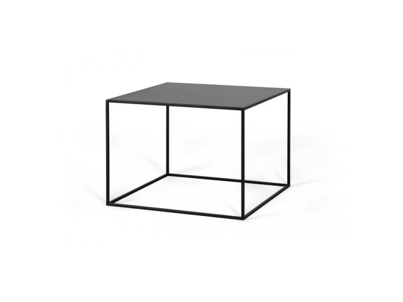 Table basse industrielle carrée en métal flore / coloris : noir