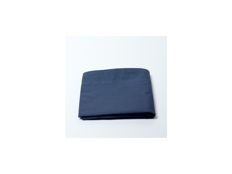 Drap plat 100% coton / 57 fils/cm² - couleur: linge marine-linge marine$bleu - tailles linge de lit: 180 x 290 cm