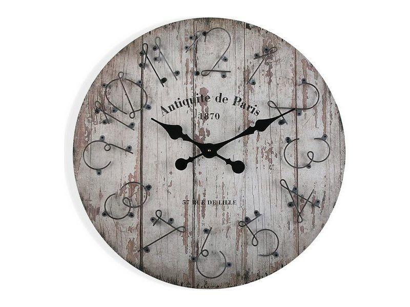 Horloges murales et de table stylé horloge murale bois mdf/métal (5 x 60 x 60 cm)