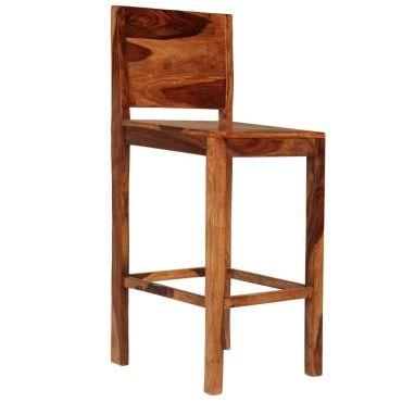 Vidaxl chaises de bar 2 pcs marron bois solide de sesham