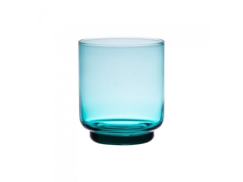 Verre oslo bleu turquoise 33 cl (lot de 6)