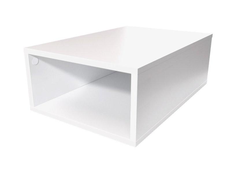 Cube de rangement 75x50 cm bois blanc CUBE75-LB