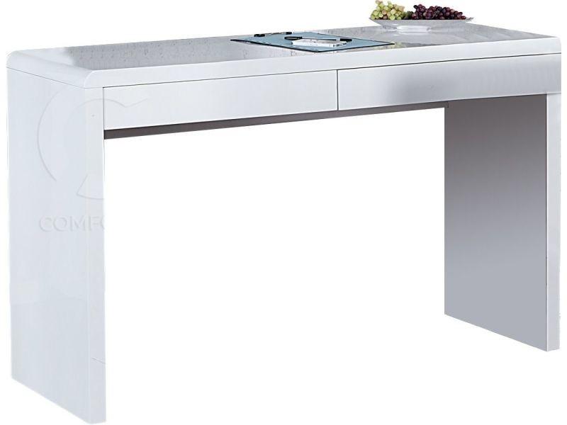 Bureau blanc laqué avec 2 tiroirs - Vente de Bureau - Conforama