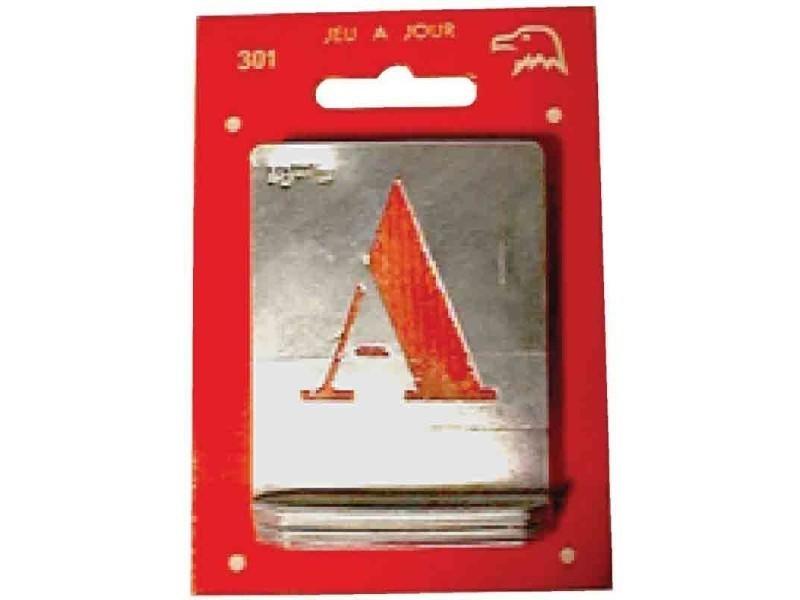 Alphabet alu ajouré - 50 mm BD-550899