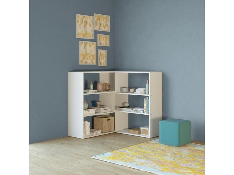 Homemania bibliothèque twinny meuble murale, modulable, étagère de rangement - avec ...