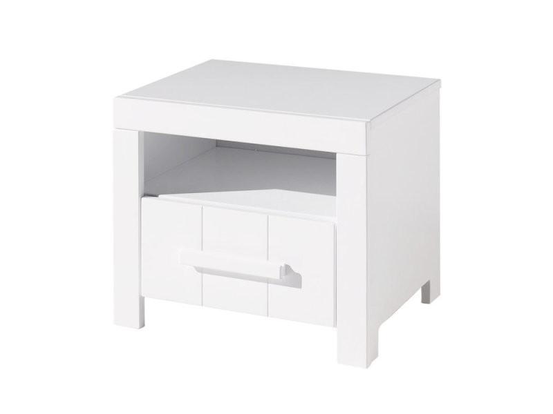 Vipack erik chevet en bois laqué blanc avec 1 niche et 1 tiroir ERNA1214