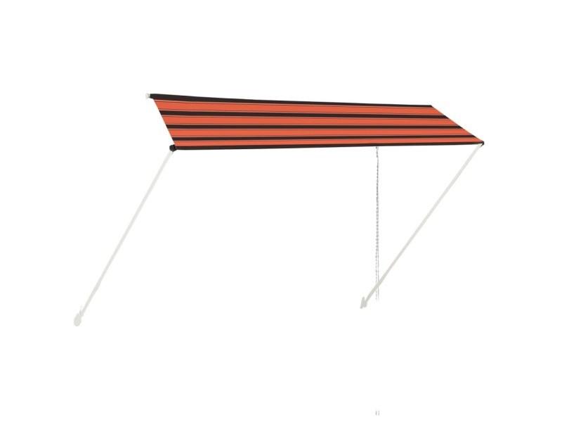 Vidaxl auvent rétractable 350x150 cm orange et marron 145898