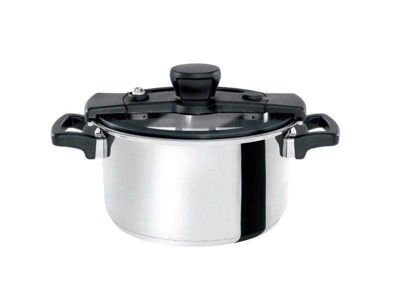 Marmite inox multifonction induction basse pression orvik ø24cm 6l avec possibilité d'ouverture pendant la cuisson