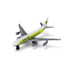 Avion de ligne en métal : blanc