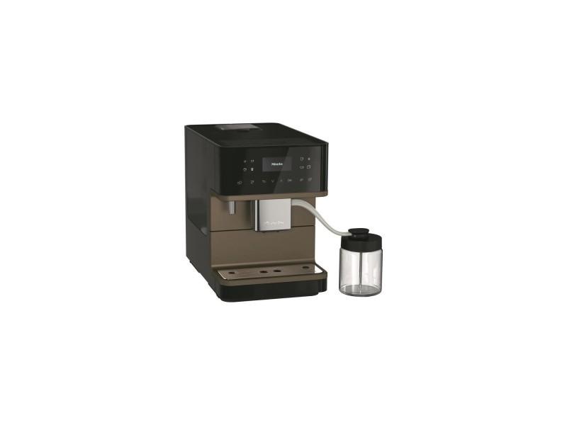 Miele cm 6360 milkperfection nr bronzepearlfinish - expresso broyeur automatique - couleur noir obsidien finition bronze MIE4002516358862