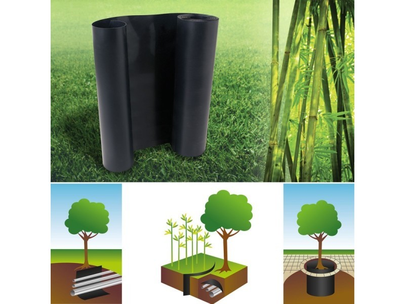 Barrière anti-racines bambou 5m 800gr anti-rhizomes h.60 cm