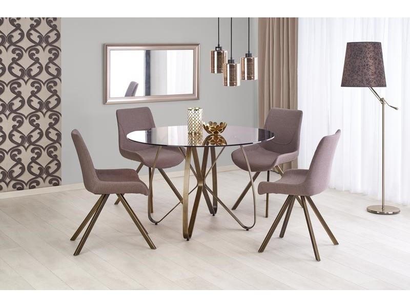 Ensemble table à manger ø : 120 cm + 4 chaises