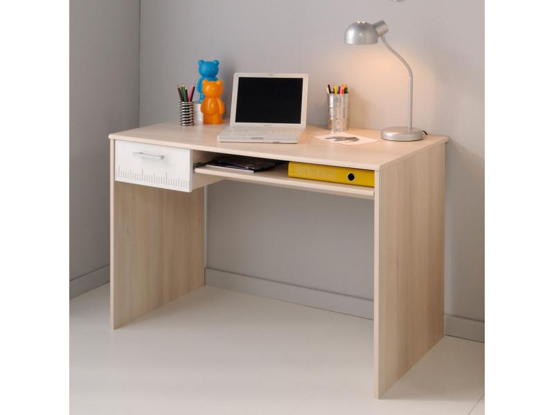 Bureau en bois avec tiroir et tablette coulissante h l