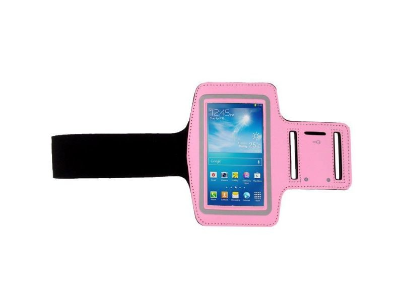 Brassard sport smartphone universel tour de bras protection étanche iphone rose - yonis