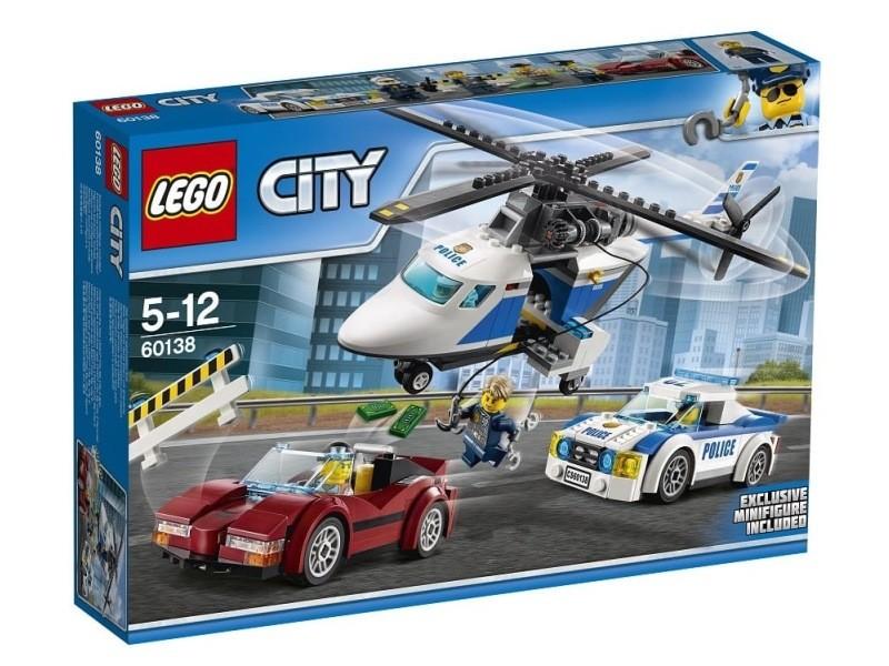 60138 la course poursuite en h licopt re lego r city 0117 60138 vente de lego conforama. Black Bedroom Furniture Sets. Home Design Ideas