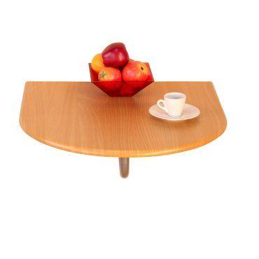 Table Pliante Murale Demi Ronde En Mdf Hetre Dec05015 Vente De Table Conforama