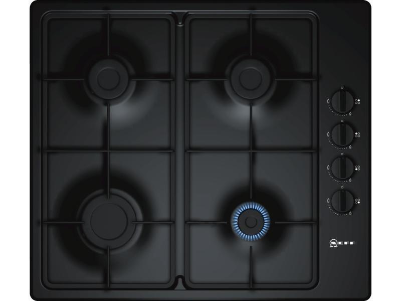Table de cuisson à gaz 58cm 4 feux 7400w noir - t26br46s0 t26br46s0