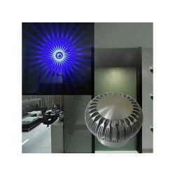 Applique murale moderne à led avec diffuseur de lumière ( ampoule incluse ) bleu