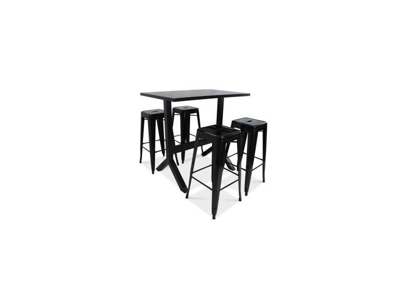 Ensemble table haute et 4 tabourets de jardin - Vente de Ensemble ...