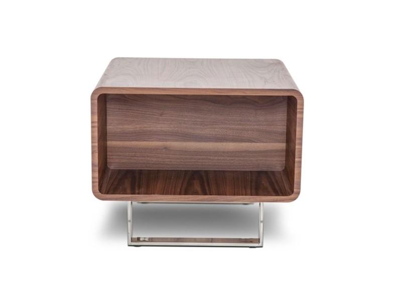 Table d'appoint bois mia - noyer - bois foncé