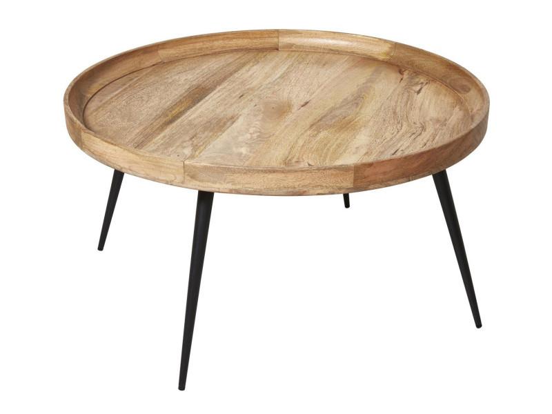 Subleem table basse bois mumbai bois clair