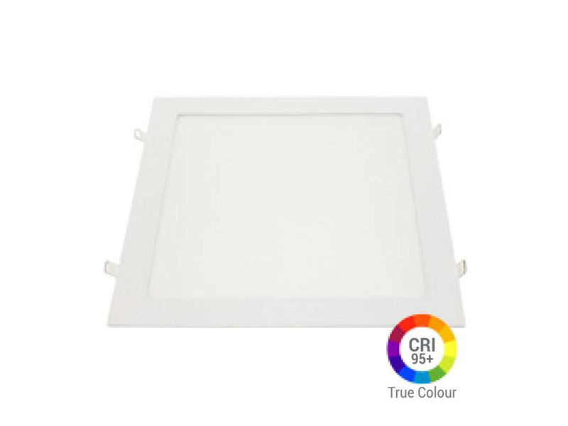Plafonnier led carré 24w extra plat encastrable irc95 - blanc chaud 2700k DL2644