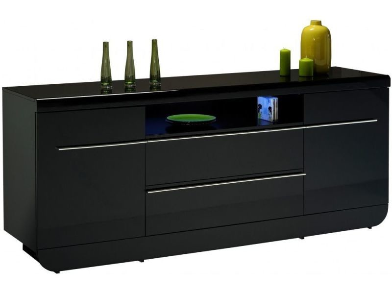 Awesome Buffet Noir Laque Conforama Contemporary - lalawgroup.us ...