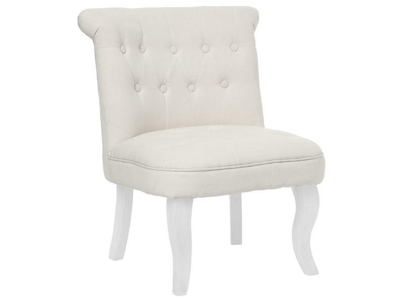 fauteuil crapaud calixte h 73 cm lin beige vente de atmosphera conforama. Black Bedroom Furniture Sets. Home Design Ideas