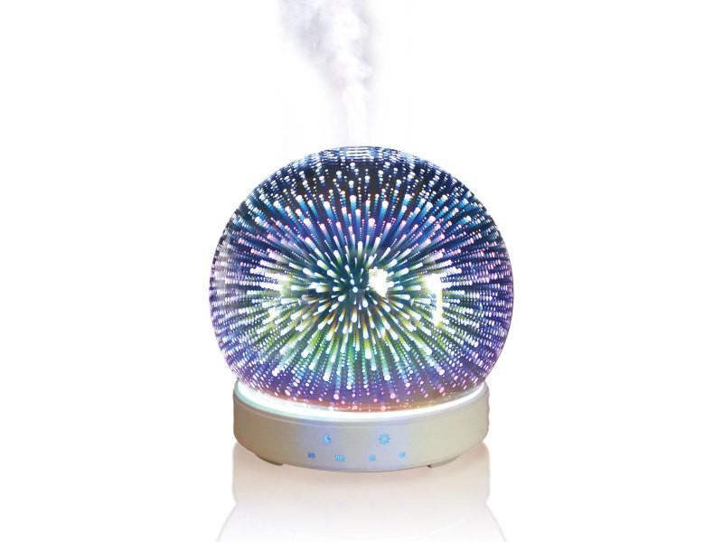 Diffuseur d'huiles essentielles 200ml humidificateur d'air ultrasonique diffuseur d'arôme brume fraîche aromathérapie avec lumière couleurs led SUMU 20 GLASS E