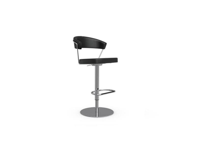 Chaise de bar new york design revêtement polyuréthane façon cuir noir 20100845553