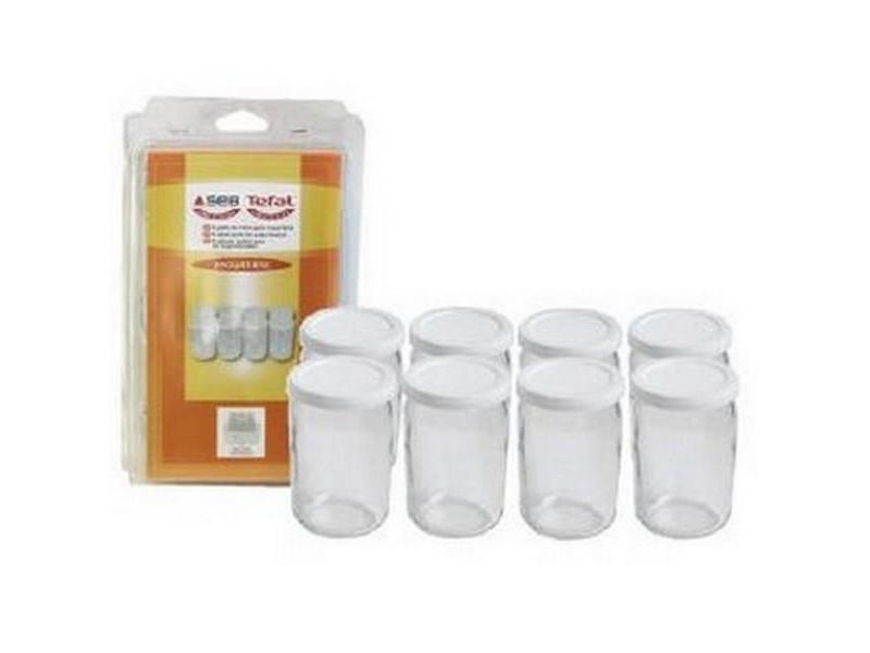 8 pots verre avec couvercle yaourtière seb 989641