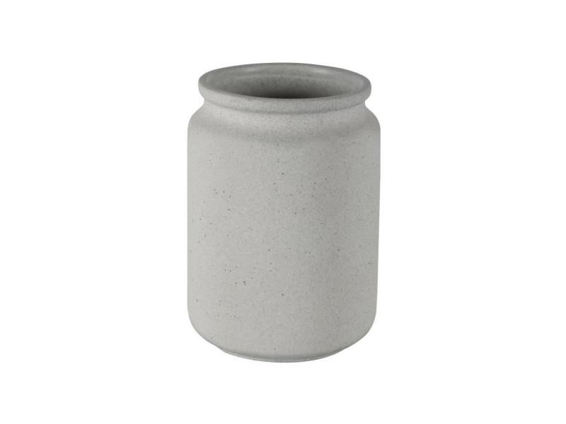 Ciment gobelet salle de bain - 11 x 8 x 8 cm - gris