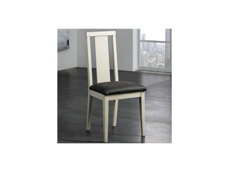 Coussin Vente De Blanc Tropez Nouvomeuble Chaise Bois Avec Noir 29IWEDYH