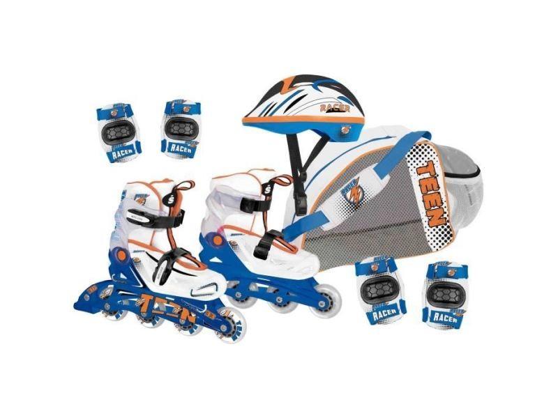 Roller in line cdts roller inline avec protection - réglable du 34 au 38 - evolutif - garçon