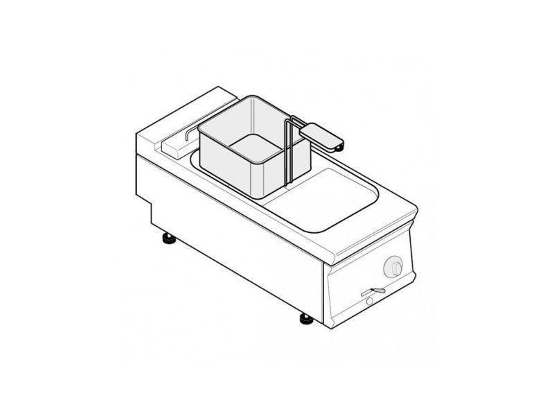 Friteuse électrique - 8 litres - commandes mécaniques - gamme 700 - tecnoinox -
