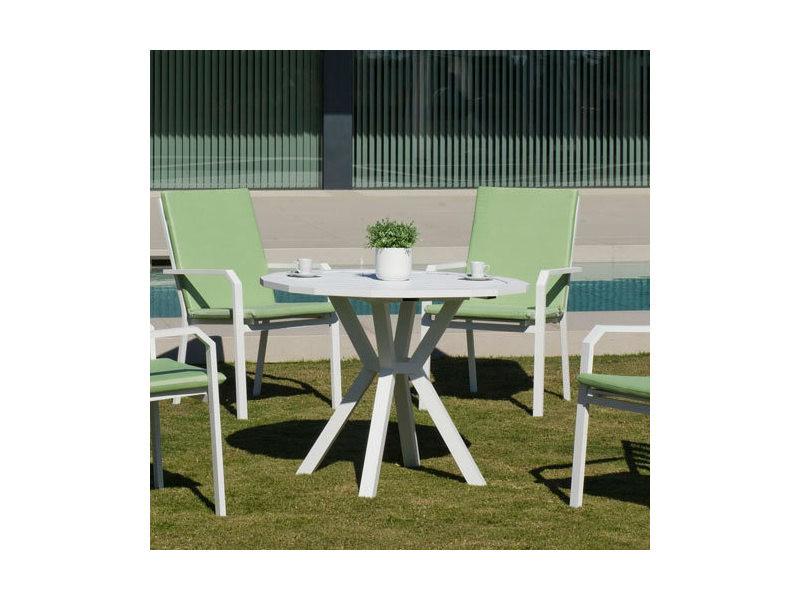 Table à manger de jardin ayma 110 pour 4 personnes- aluminium blanc 31567 IO_31567