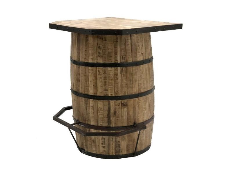 Style ancien bar tonneau fut à vin bois fer 90.50 cm x 100 cm 14318 ...