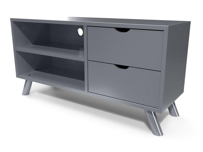 Meuble tv scandinave bois viking gris aluminium VIKINGTV-Ga