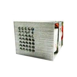 Applique murale cubique avec diffuseur de lumière en aluminium  blanc crem
