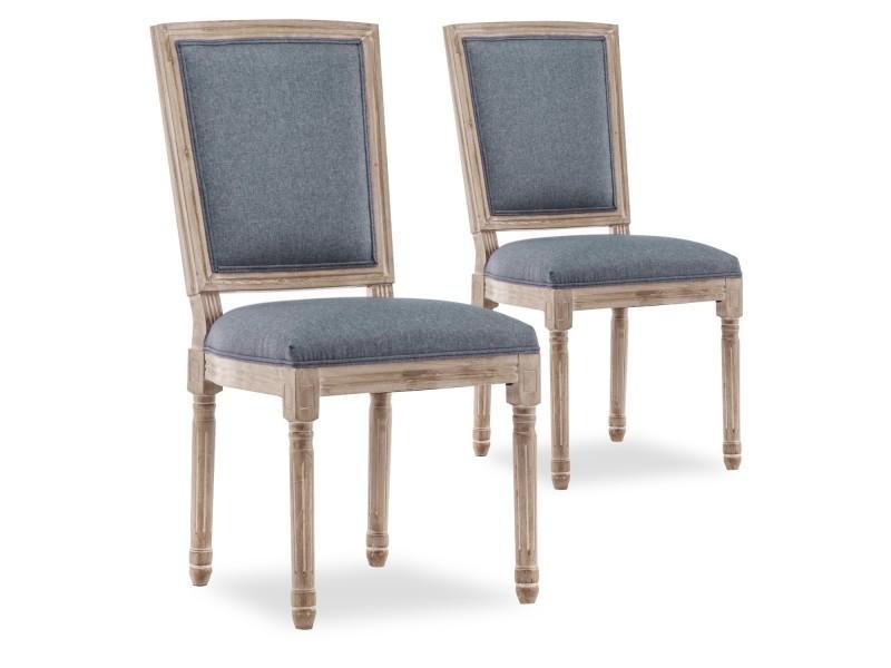 impériale tissu xvi chaises Lot de style louis 2 trianon PXwkiTZOu